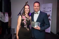 Eddie Carstens won the Member of the Year 2017 Award for BNI North Peninsula