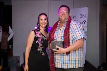Peter Ruthenberg won the Member of the Year 2017 Award for BNI South Peninsula