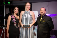Kim Spyron won the Most 121's Award for BNI North Peninsula