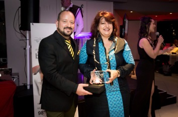 Janine Gray won the Most CEU's Award for BNI North Peninsula