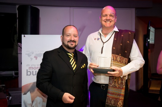 Kevin Abbott won the Most CEU's Award for BNI South Peninsula