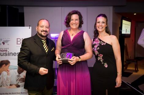 Claire Stier won the Most CEU's Award for BNI Winelands Region