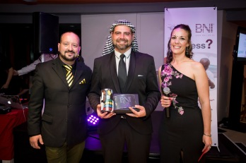 Jaco Pieterse won the Most Closed Business Passed Award for BNI North Peninsula