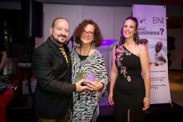 Tesse de Bruin won the Most Closed Business Passed Award for BNI Winelands