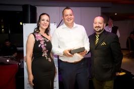 Tristan Anderson won the Most Visitors Award for BNI North Peninsula