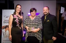 Margarete Du Toit won the Most Visitors Award for BNI Winelands